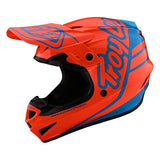 Troy Lee Designs Youth GP Helmet - Silhouette - Orange/Cyan