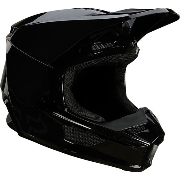 Fox Racing V1 Plaic Helmet  - Black
