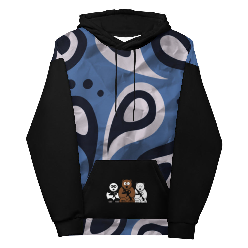 'Warrior Blue' Bear Escape Unlimited™ Unisex Hoodie