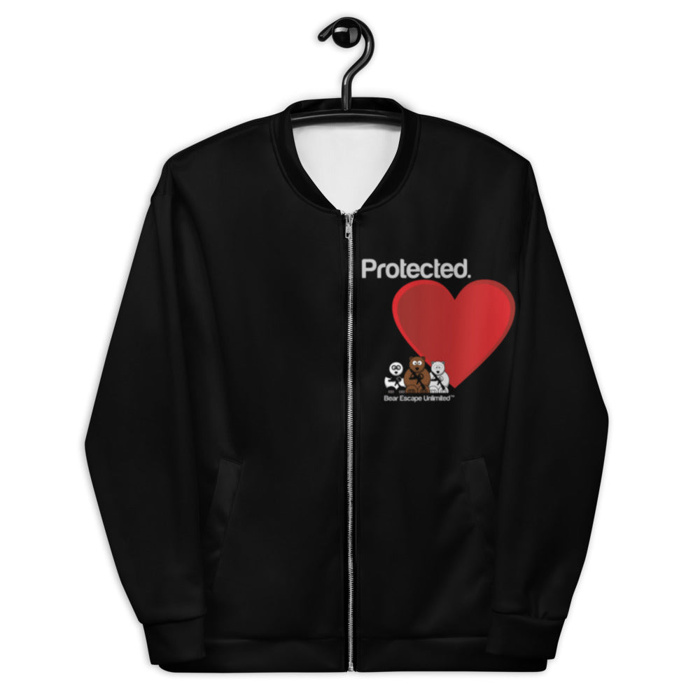 'Protected' Bear Escape Unlimited™ Unisex Bomber Jacket