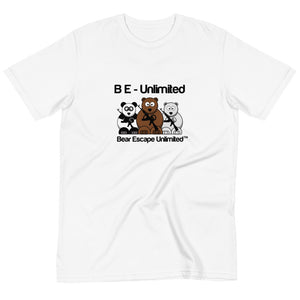 'B E- Unlimited' Bear Escape Unlimited™ Organic unisex T-Shirt