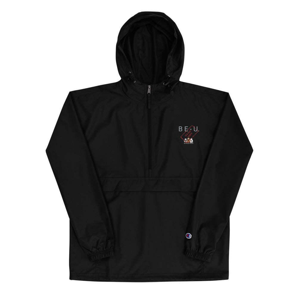 Embroidered 'B E-U' Bear Escape Unlimited™ x Champion Packable Jacket
