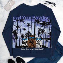 Load image into Gallery viewer, 'Find Your Paradise' Bear Escape Unlimited™ Unisex Sweatshirt