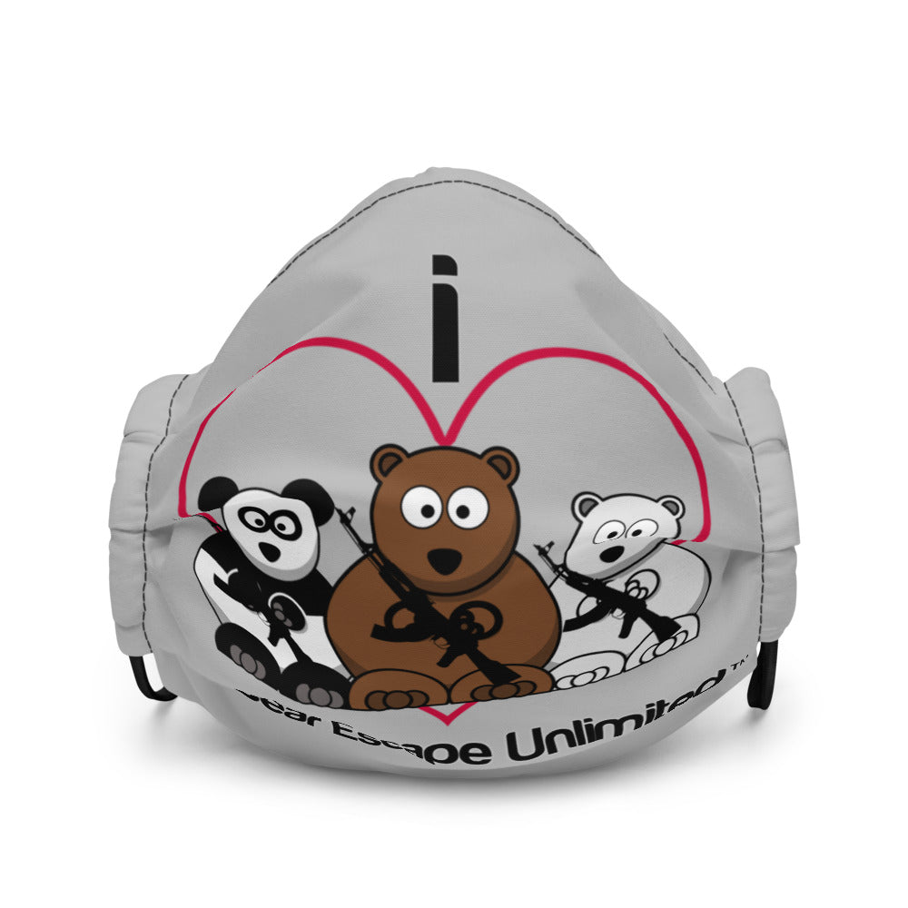 'I Heart' Bear Escape Unlimited™ Face mask
