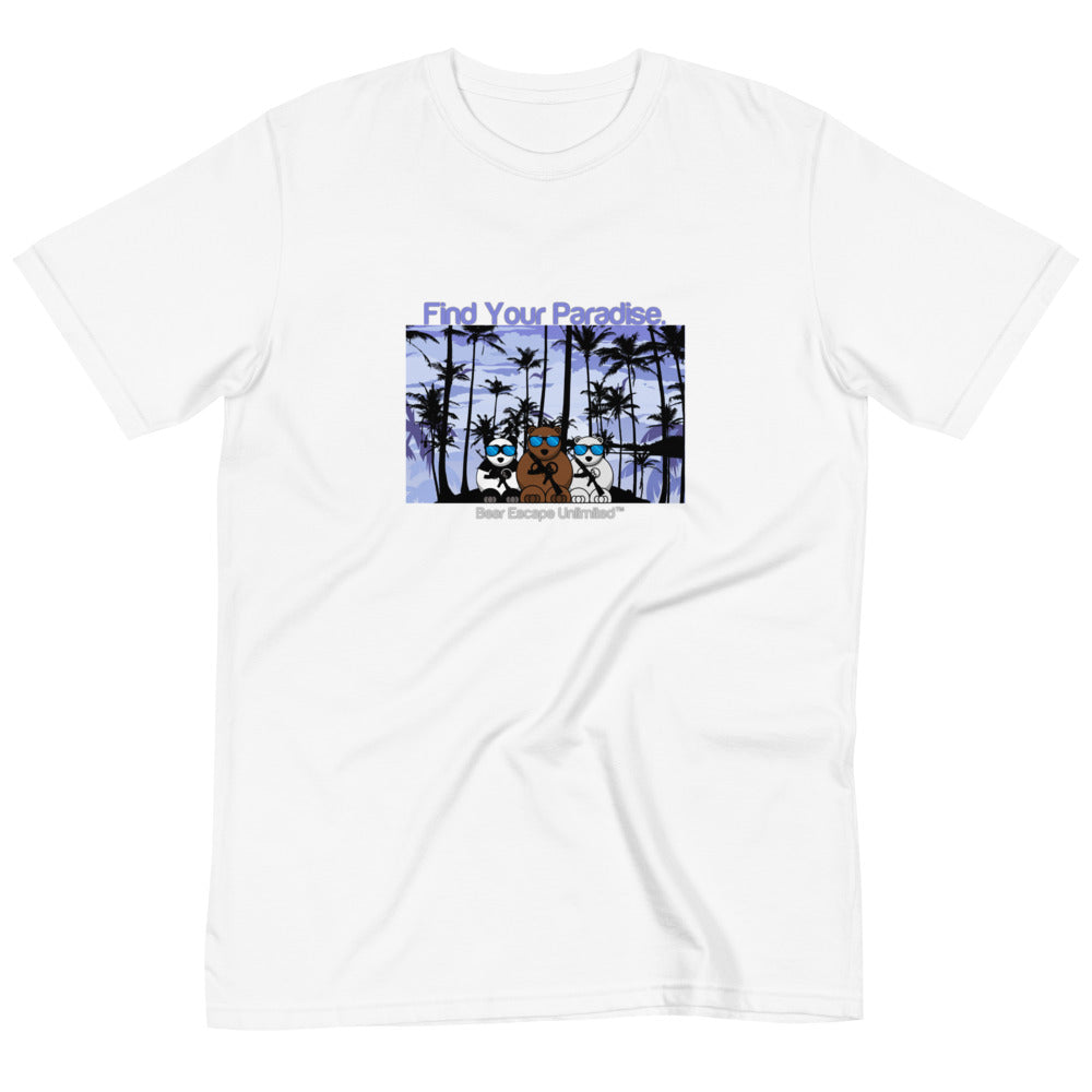 'Find Your Paradise' Bear Escape Unlimited™ Organic unisex T-Shirt
