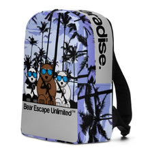 Load image into Gallery viewer, 'Find Your Paradise' Bear Escape Unlimited™ Minimalist Escape Backpack