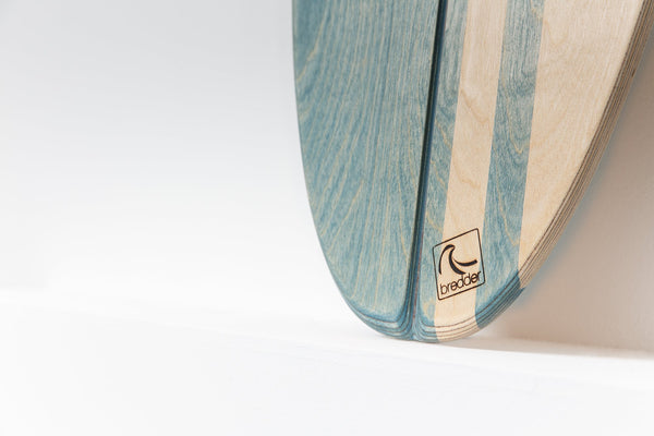 Balance Board Surf Trainer Wackelbrett handgemacht Holz Aquana Shorty Detail 1