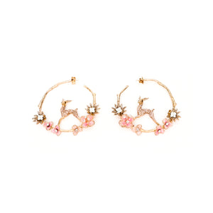 Ayala Earrings- Pink
