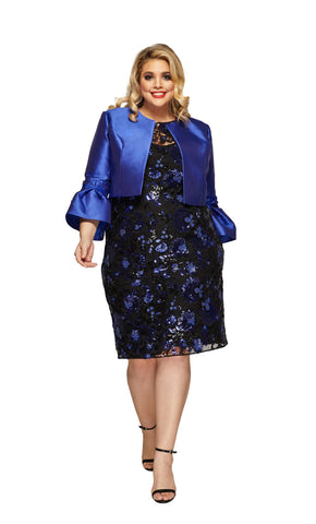 Plus Size Bridget Jacket in Electric Blue