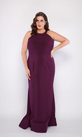 Plus Size Amanda Gown in Purple