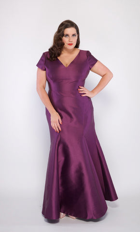 Genevieve Plus Size Gown in Purple