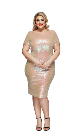 Eliza Plus Size Cocktail Dress