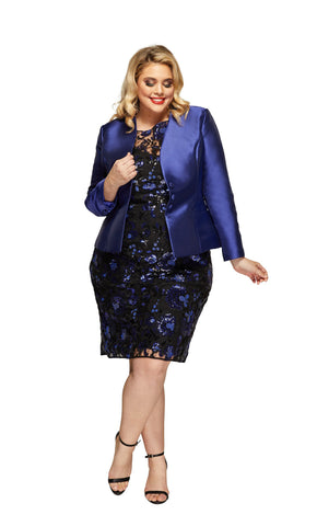 Celine Plus Size Jacket in Electric Blue