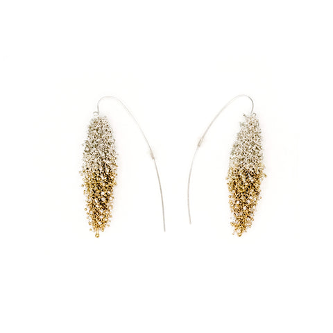 Layla  Earrings -Clear and Gold