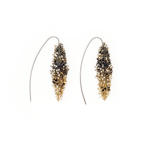 Layla Earrings-Gold and White