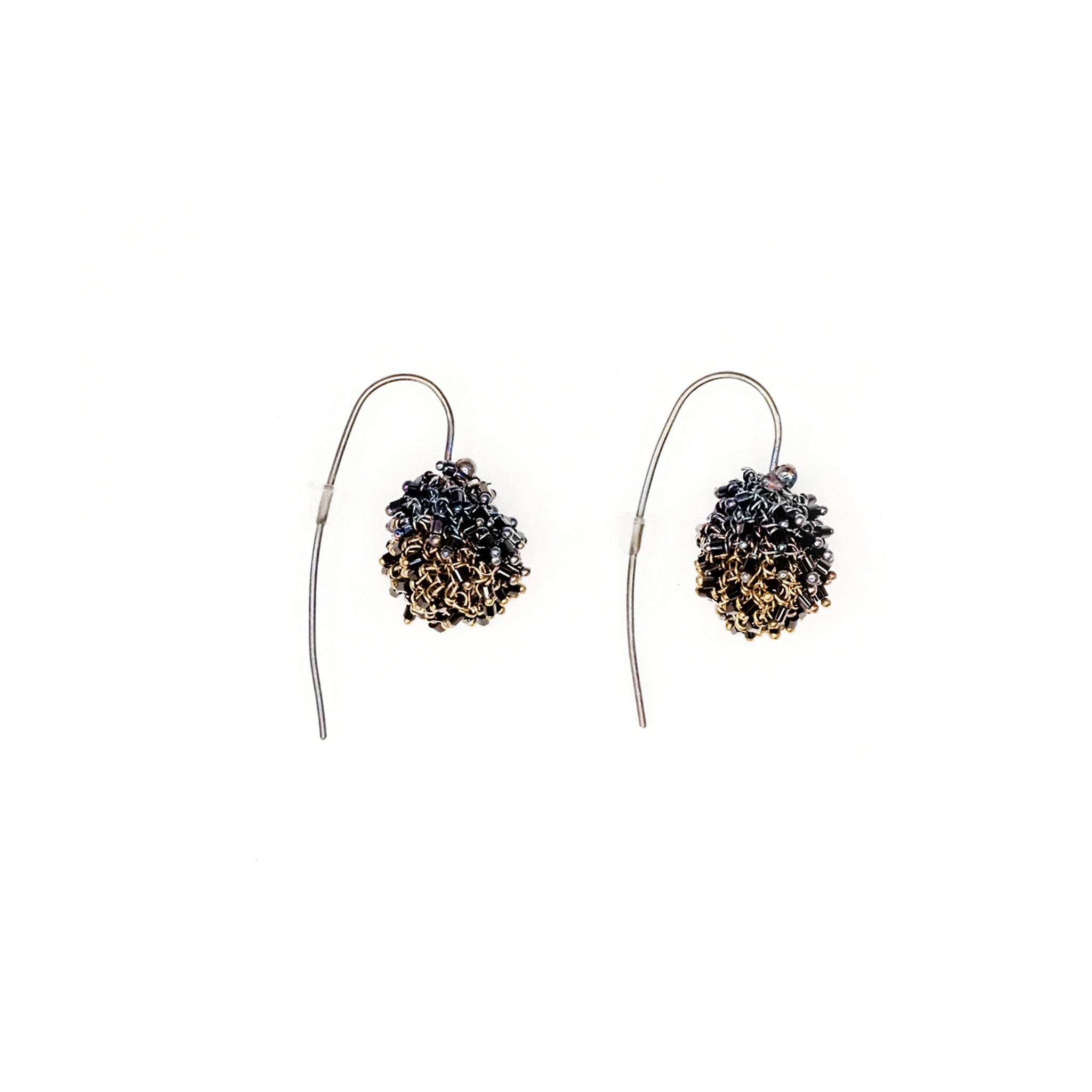 Kamilah Earrings - Purple and Gold