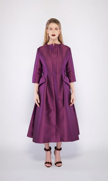 Jackie O. Dress Coat in Purple