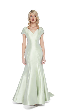 Adele Non-Stretch Gown in Ice Green