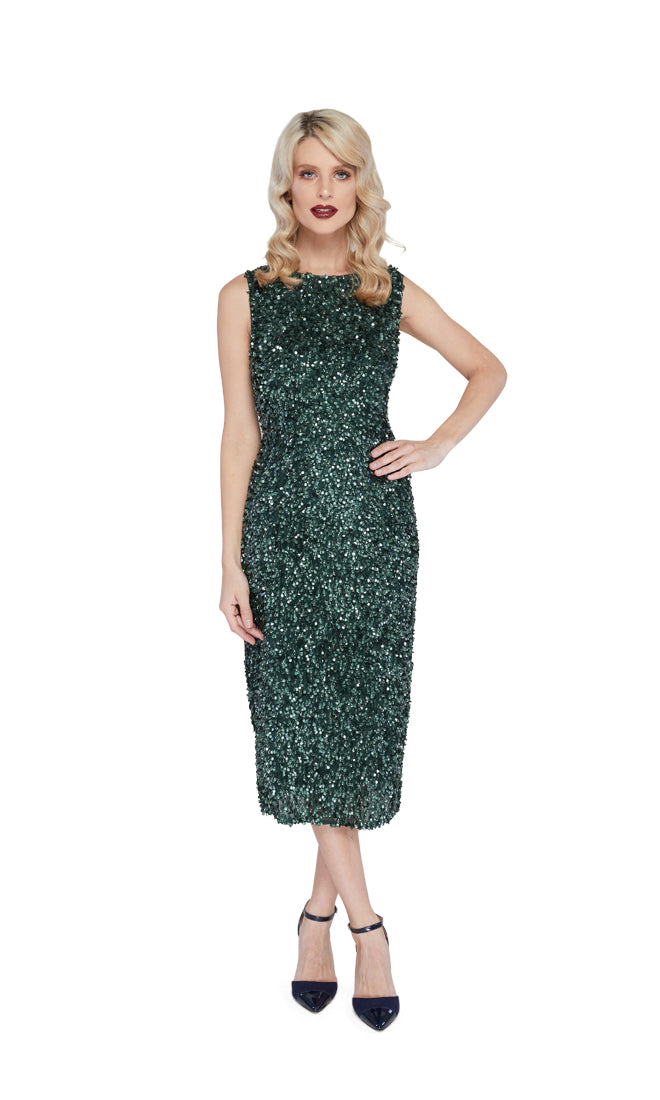 Grace Cocktail Dress in Green