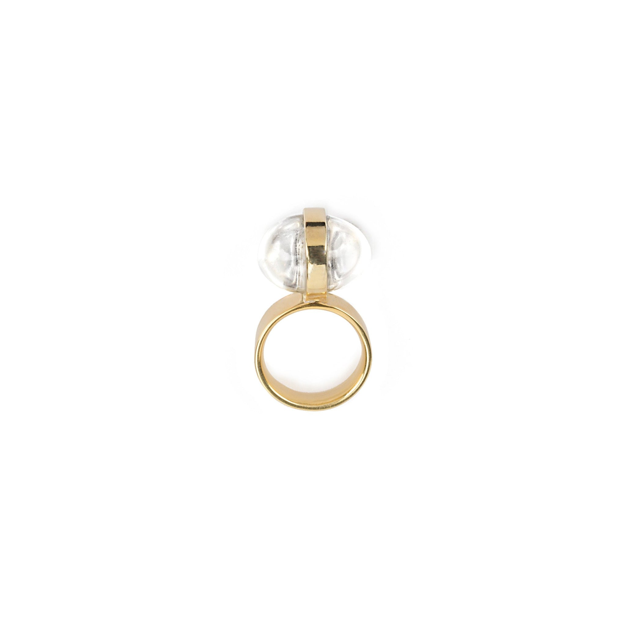 Argento Ring -24 gold  plated
