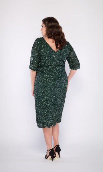 Grace Plus Size Cocktail Dress in Green