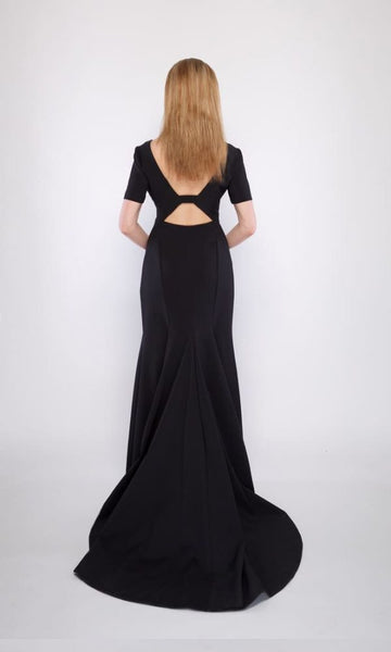 Adele Stretch Gown in Black