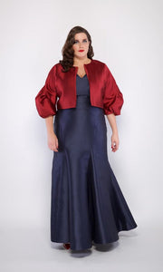 Plus Size Bella Bolero Jacket in Wine