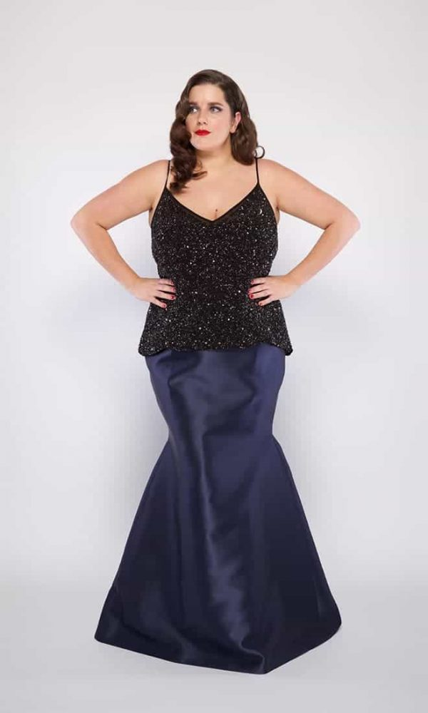 Tiffany Plus Size Skirt in Navy