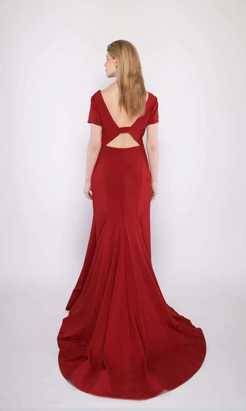 Adele Stretch Gown in Red