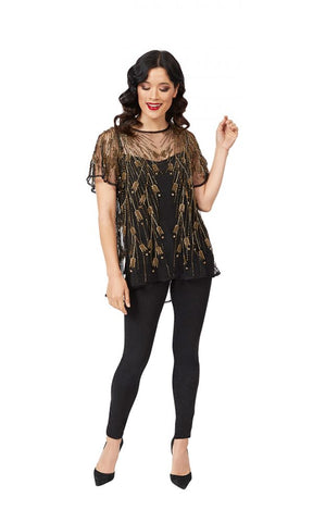 Bellissima Top in Black- Gold