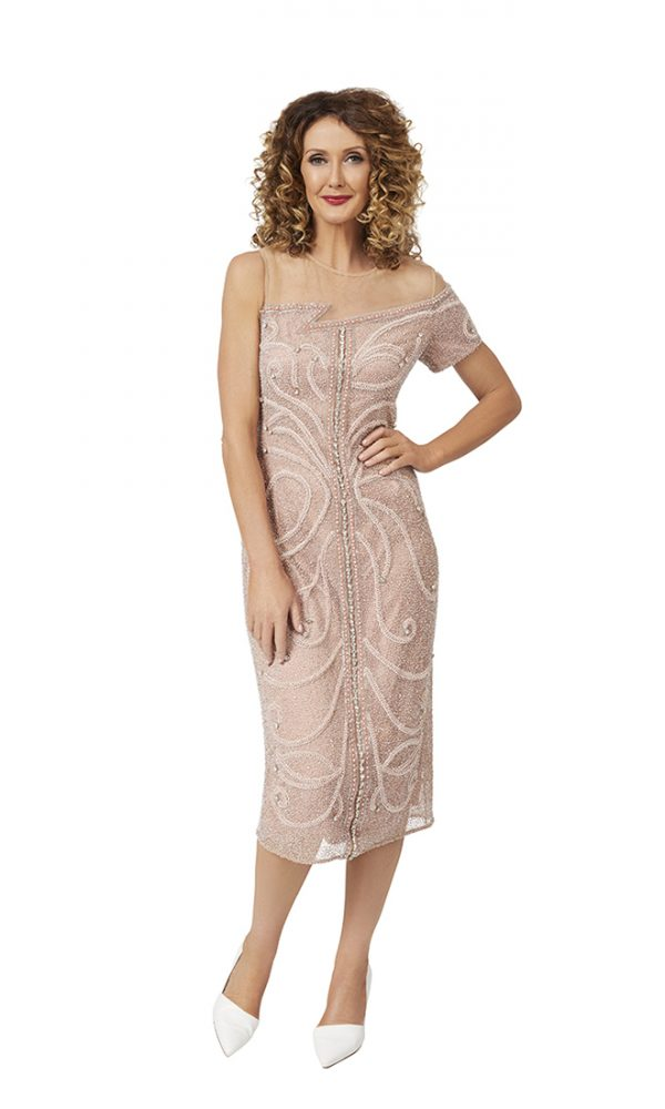 Fantasia Cocktail Dress in pink-crystal