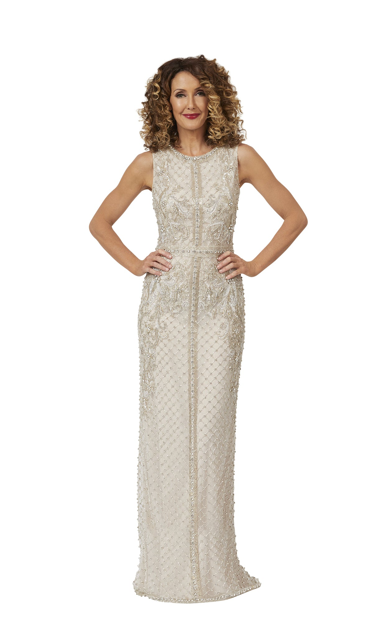 Cleopatra Gown in Antique-Silver