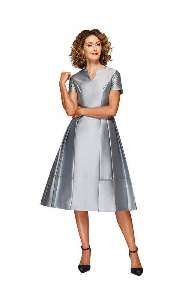 Mercy Cocktail Dress in Ice Blue