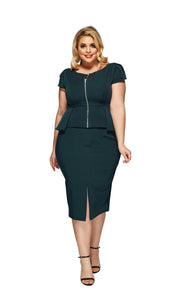 Rachel Plus Size Skirt in Green