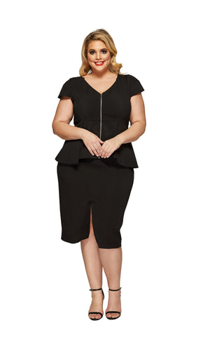 Rachel Plus Size Skirt in Black