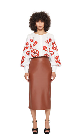 Bianna Skirt in Brown