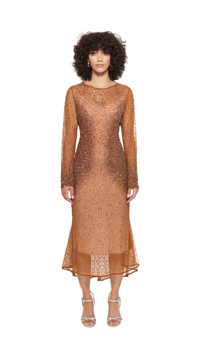 Donna Cocktail Dress in Copper