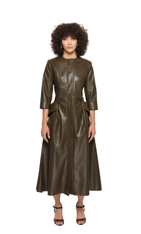 Jennifer Dress Coat in Olive