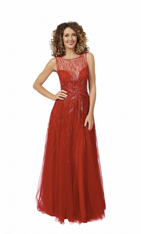 Azar Gown in Red