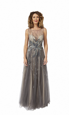 Azar Gown in Grey