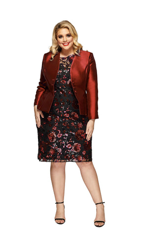 Celine Plus Size Jacket in Wine