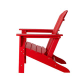 Elm PLUS Red Recycled Plastic Outdoor Adirondack Chair