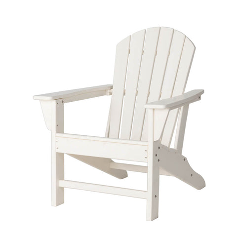 Elm PLUS White Recycled Plastic Outdoor Adirondack Chair