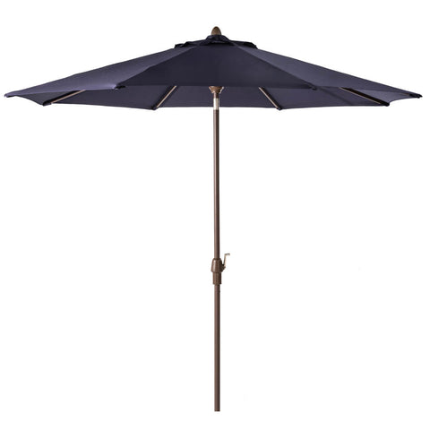 Elm PLUS 10 ft. Aluminum Auto Tilt Market Patio Umbrella in Navy Blue Olefin