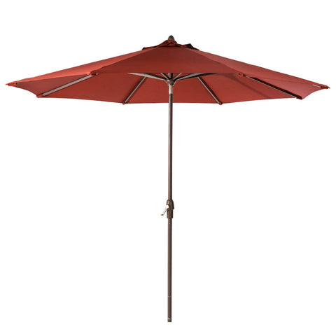 Elm PLUS 10 ft. Aluminum Auto Tilt Market Patio Umbrella in Wine Red Olefin