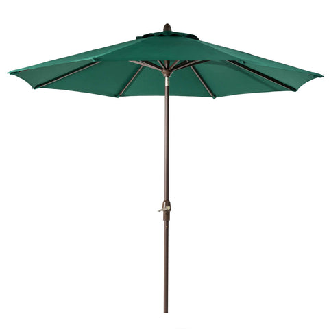 Elm PLUS 10 ft. Aluminum Auto Tilt Market Patio Umbrella in Dark Green Olefin