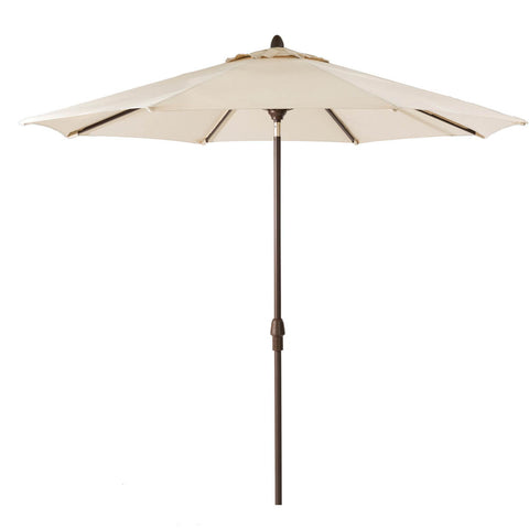 Elm PLUS 10 ft. Aluminum Auto Tilt Market Patio Umbrella in Beige Olefin