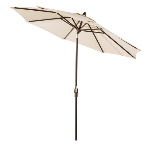 Elm PLUS 9 ft. Aluminum Auto Tilt Market Patio Umbrella in Beige Olefin