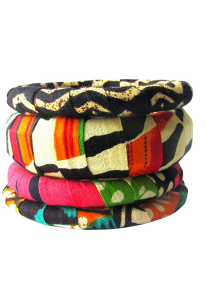 InI Stacker Bangles: Kente Delight