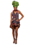 African Fashion Dip It Low Halter Dress by Mia Nisbet - House of SafiHadi